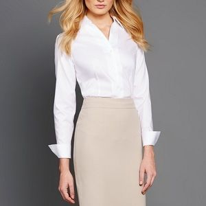 Wrinkle-free Pinpoint Oxford Blouse
